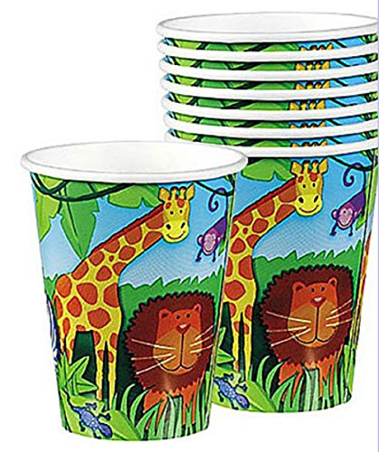 Amscan Jungle Animals 9 oz Cups - 8 ct - 1