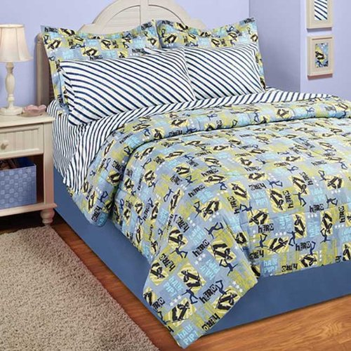 Skateboarding Half Pipe Full Bed Set