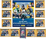 2016 Panini NFL Football Stickers Special Collectors Package with 80 Brand New MINT Stickers & HUGE 72 Page Collectors Album! Plus Special BONUS of FIVE(5) 2016 Leaf Football ROOKIES! Loaded!  HOT!