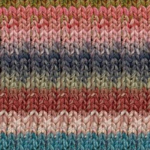 Noro Silk Garden Lite, 2131 - Salmon-Blues-Greens-Rose-Nut