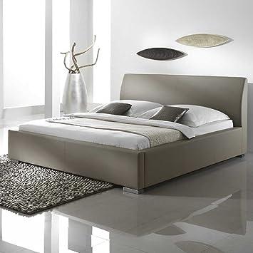 Bett in Schlamm Kunstlederbezug Breite 198 cm Liegefläche 180x200 Pharao24