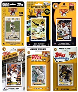 MLB Pittsburgh Pirates 6-Different Licensed Trading Card Team Set by C&I Collectables