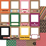 Ruby Rock-It Bella! Krafty Goodness Double, Sided Cardstock, 10 Sheets, 12