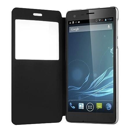 CUBOT 3G Smartphone S222 Grande 5,5 Pouces HD IPS Ecran Android 4.2 Quad Core 1.3GHz 1Go RAM+16Go ROM téléphone portable Dual SIM 1Go RAM 16Go ROM 13.0MP Appareil photo-Noir-WIFI GPS Bluetooth -résolution 1280 x 720 mégapixel-