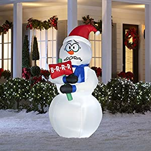 6 ft tall lighted christmas inflatable for Amazon christmas lawn decorations
