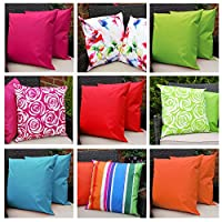 Comfort Co Waterproof Garden Cushions for Chairs with Fibre Filled Cushions for Seats and Benches - Orange (Pack of 4) from Comfort Co