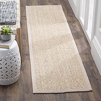 Safavieh Natural Fiber Collection NF525C Marble Sisal Runner (2 x 8)