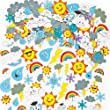 Weather Foam Stickers - Pack of 96