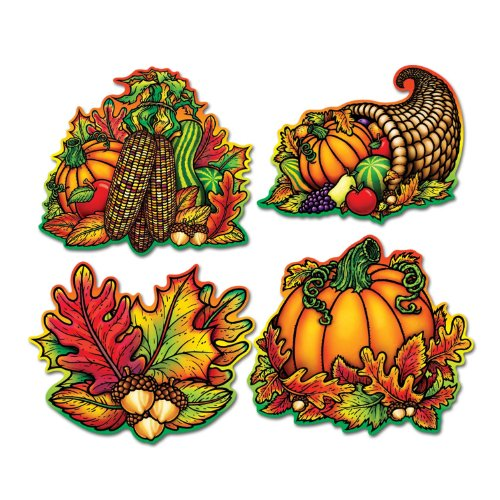 Pkgd Autumn Splendor Cutouts   (4/Pkg)