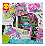 ALEX Toys - Craft, Friends 4 Ever Scrapbook Kit with 48-Page Hardcover Book