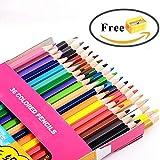 Gliston 色鉛筆 36色セット 収納デザイン紙箱入り おまけは鉛筆削り器(36色/24色/12色オプション)