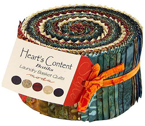 Moda Heart's Content Batik Jelly Roll by Laundry Basket Quilts
