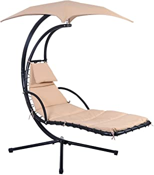 Giantex Hanging Chaise Lounge Chair