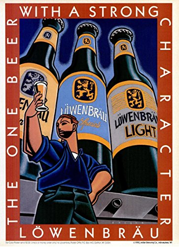 original-print-ad-1990-lowenbrau-special-light-beer-the-one-beer-with-a-strong-character-vintage-col