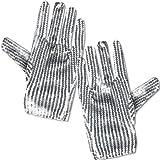 Silberne Pailletten Handschuhe