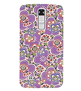 Rangoli Pattern 3D Hard Polycarbonate Designer Back Case Cover for LG K7 4G Dual