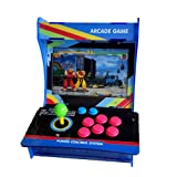 Tongmisi Pandora Box 5 Arcade Fighting Game Machine 999 in 1 Mini Games Console with 10 Inch Screen (999 Games) (Color: Blue)