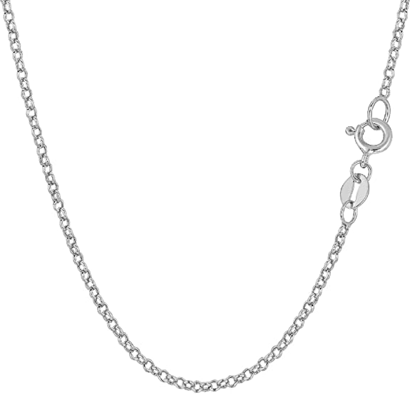 Chunky Chain 18 Carat 750 White Gold Round Rolo Link 1 mm wide length can be selected