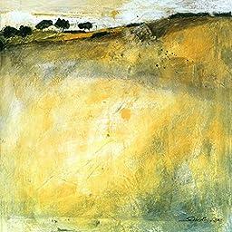 27W x 27H Green Landscape by Gabriele Scherk - Stretched Canvas w/ BRUSHSTROKES