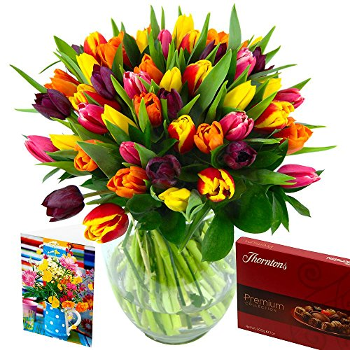 Clare Florist Mixed Tulips Flower Bouquet Gift Set