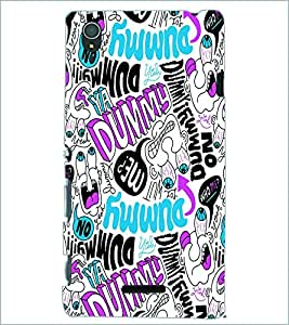 PRINTSWAG COLORFUL TYPOGRAPHY Designer Back Cover Case for SONY XPERIA T3
