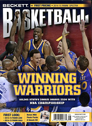 Current Beckett Basketball Monthly Price Guide Card Value Magazine August 2015 Stephen Curry Golden State Warriors