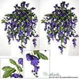 3' Artificial Wisteria Hanging Flower Bushes, with No Pot, (Pack of 2)