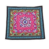FOREVER YUNG Flower Embroidery National Style Seat Cushion Pillow Sham Cover