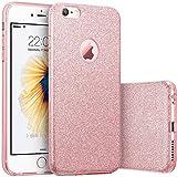 iPhone 6s Plus ケース ポリカーボネート製 iPhone 6 Plus ケースクリスタル キラキラ ラメタイプ 耐衝撃 アイホン6s ケース case パンバー カバー きらきらケース (Rose Gold)
