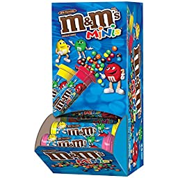 M&M\'S Milk Chocolate MINIS Size Candy 1.08-Ounce Tube 24-Count