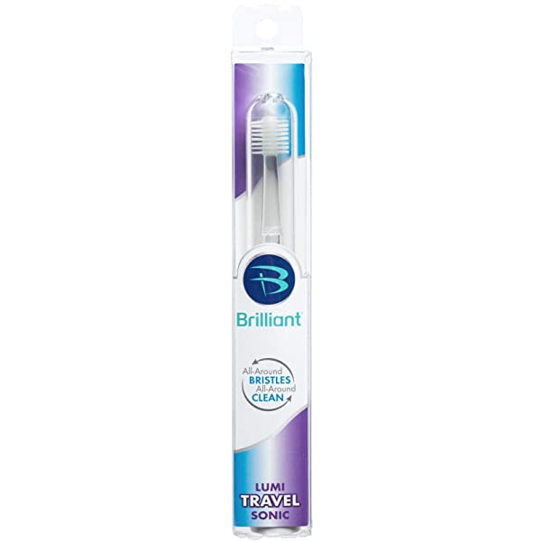 Brilliant Sonic Toothbrush for Adults - Round Brush Head with Super-Fine Micro Bristles and Gentle Sonic Technology for a Brilliant Smile (Tamaño: 1 Brush Head)