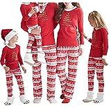Norbi Parent-Child Family Christmas Elk Clothes Sleepwear Mom Dad Deer Striped Pajamas Set