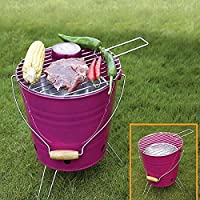 St. Millers Portable Barbecue Grill Bucket Type, 1Pc,Puple