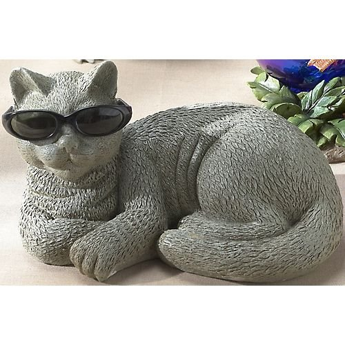 Tropix Cool Cat with Sunglasses Garden Figurine