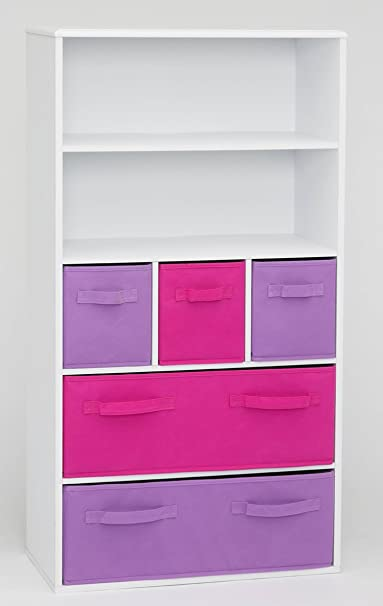 4D Concepts Girl's Storage Bookcase, White