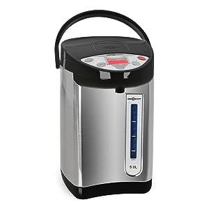 oneConcept Thermo Pot Heißwasserspender Heißwasserautomat ideal für Büro und Kantine (680W, 5 Liter heißes Wasser, TemperaturEinstellung) schwarzsilber Kundenbewertungen