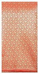 Benaras Fabric Red Brocade Fabric Width 44