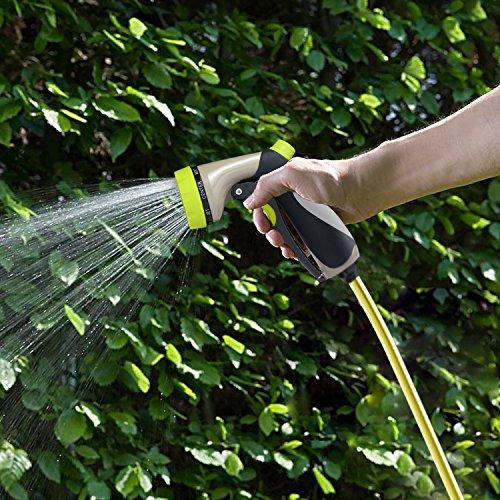 Taythi Garden Hose Nozzle Hand Spray Nozzle With 5 Washers 8 Adjustable Pattern Pistol Grip