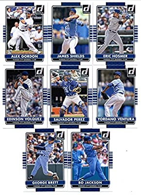 2015 Donruss Baseball Cards Kansas City Royals Series 1 Team Set of 8 Cards: Eric Hosmer , James Shields , Alex Gordon , Yordano Ventura , Salvador Perez , Edinson Volquez , George Brett , Bo Jackson