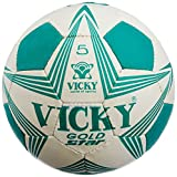 Vicky Gold Star Football, Size 5 (Green/white)