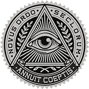 ALL SEEING EYE IN TRIANGLE CREST BLACK GREY Vinyl Decal Sticker Two in