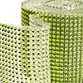 Dress My Cupcake Lime Green Diamond Rhinestone Ribbon Wrap BULK 30 feet - Wedding Decorations, Party Supplies, Stands, Trees for Cakes & Desserts