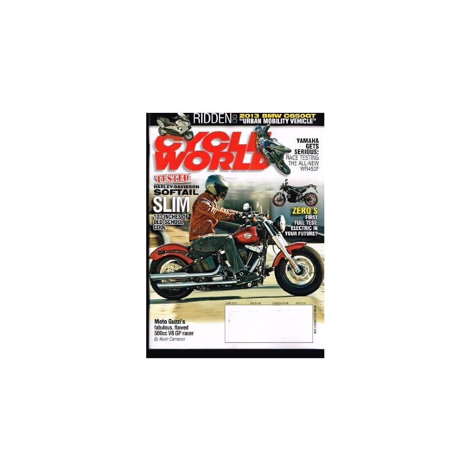 CYCLE WORLD Magazine (June 2012) Tested Harley Davidson Softail SLIM