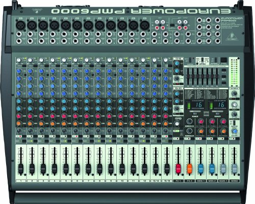 Behringer PMP6000 Europower 1600W 20 Channel Powered Mixer