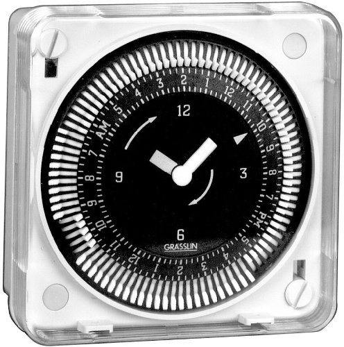 Intermatic Mil72Eqtuz-240 24-Hour 240V Flush Mount Electromechanical Time Control With Battery Backup