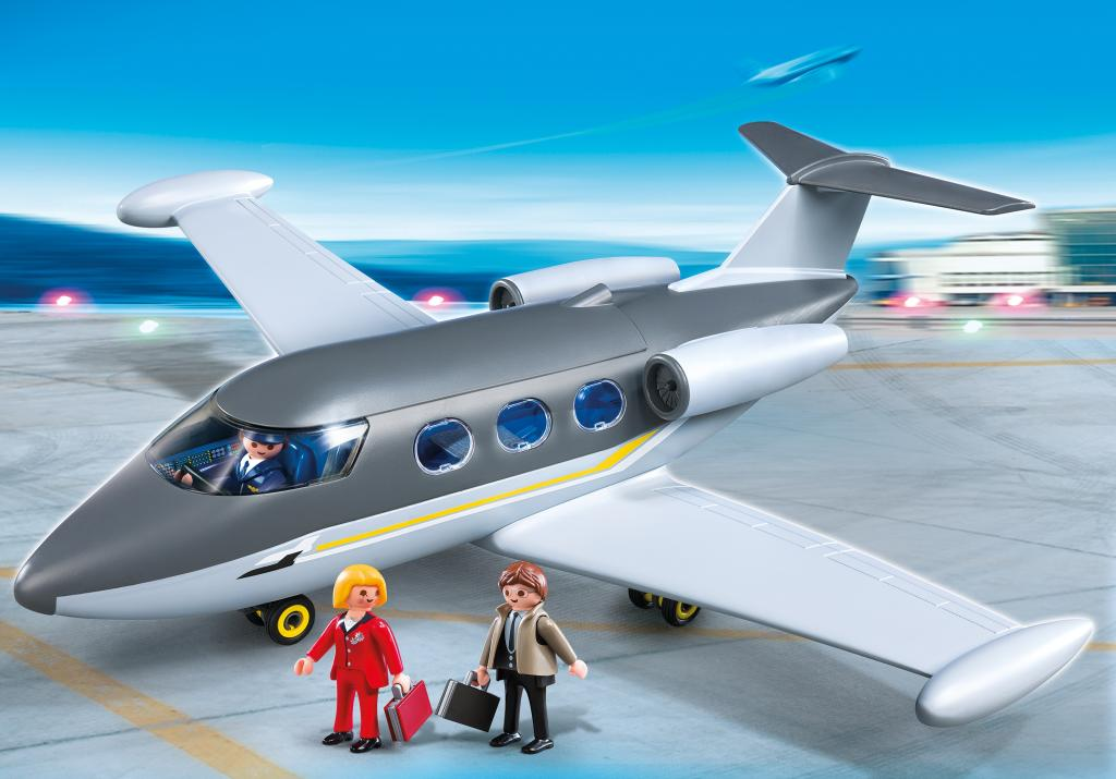 Amazon.com: PLAYMOBIL Private Jet: Toys & Games