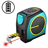 MiLESEEY Laser Tape Measure 2-in-1, 131Ft Laser Measure/16Ft Tape Measure with Area Mode, Distance and LCD Display Unit Converts ft/in/m/ft+in, USB Charging, Laser Measuring Tape (Color: DT-10, Tamaño: Feet/Inch/Metric)