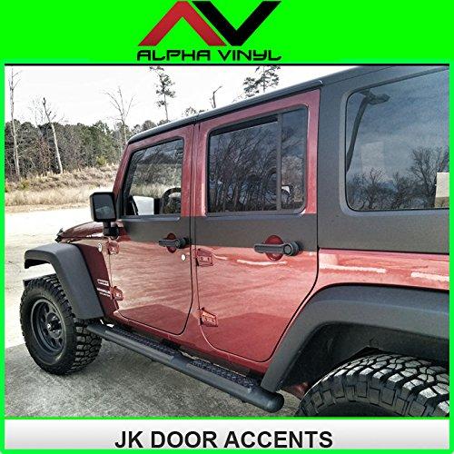 Jeep Wrangler Jk Door Skins Decal Matte Black W/ Install Kit Fit 2 Door Jeep Jk 2007-2015