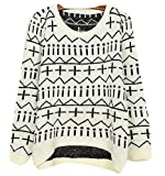 Ninimour- Womens Autumn Knitted Sweater Loose Pullover Outwear