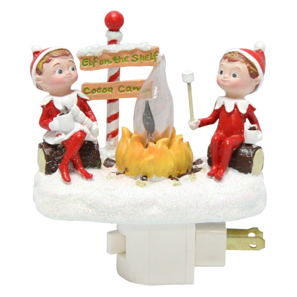 Roman Elf on The Shelf Flicker Night Light with Swivel Plug, 4.5-Inch